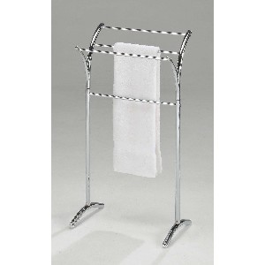 Kings Brand Chrome Finish Towel Rack Stand
