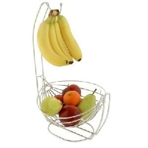 kitchen fruit basket bowl and banana hook combo
