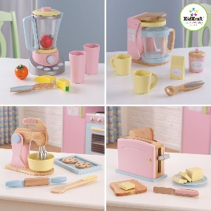 Kitchen Pastel Wooden Play Food Set