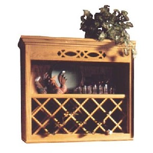 Lattice Wood Wine Rack for the Wall