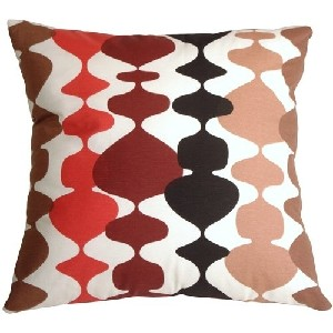 Lava Lamp Red Throw Pillow