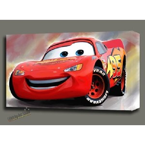 Lightning McQueen Gallery Poster Painting