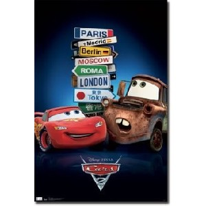 Lightning McQueen and Tow Mater Cars Movie Poster