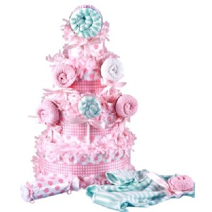 Lollipop Baby Shower Diaper Cake