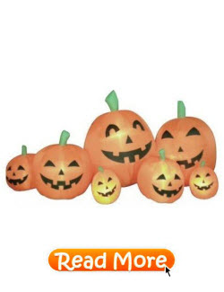 Long Inflatable Halloween Pumpkins