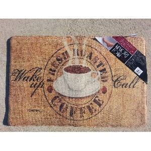 Memory Foam Kitchen Mat Soft for Standing with Wine Bottle Pattern