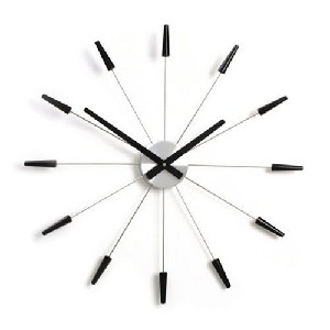 metal black sunburst wall clock