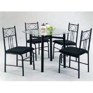 Black Table And Chairs Stones Finds  sc 1 st  ICE-UFT & Black Metal Dining Set - Dining room ideas