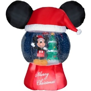Mickey Mouse Ears Snowglobe Christmas Airblown Inflatable