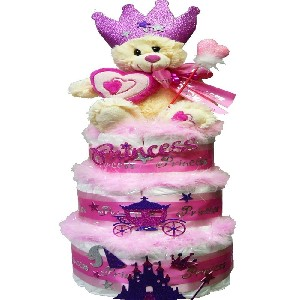 My Little Princess Newborn Baby Girl Diaper Cake Gift Tower