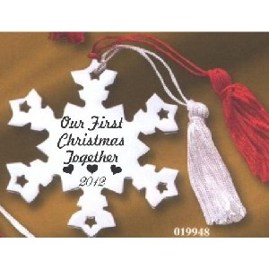 Our First Christmas Together 2012 Metal Snowflake Ornament