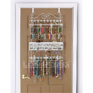 Overdoor Jewelry Organizer in White