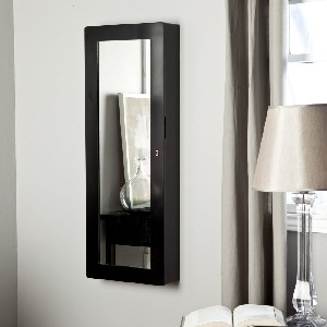 Paloma Wooden Wall Jewelry Armoire - High Gloss Black