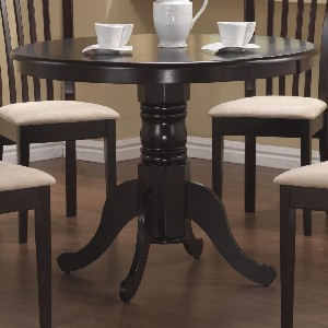 Pedestal Round Kitchen Table Cappuccino Finish