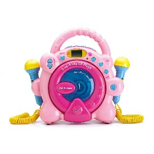 Pink Sing Along CD Player with Microphone