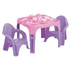 Pink Tea Party Table and Chairs Set