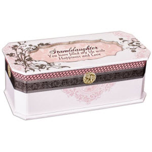 Pink You Are My Sunshine Grandaughter Classic Jewelry Box