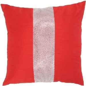 Red and Silver Stripe Pillows
