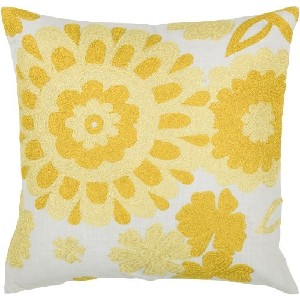 Rizzy Home Yellow & White Decorative Pillows