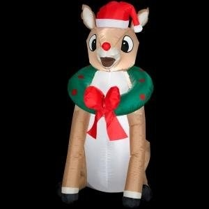 Rudolph The Red-Nosed Reindeer Christmas Airblown Inflatable
