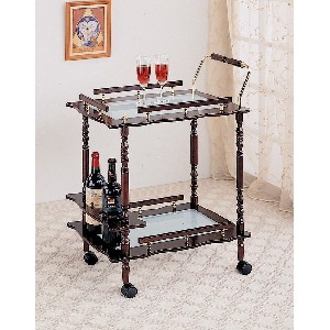 Serving Cart in Cherry Coaster