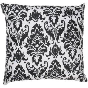 Set of 2 Damask Throw Pillows