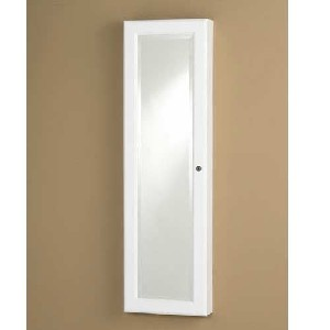 Southern Enterprises WallMount Mirror Jewelry Armoire
