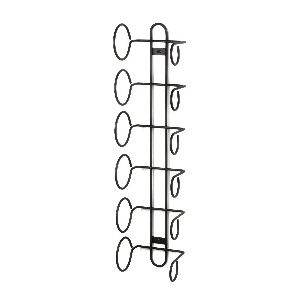 Spectrum 48810 Wall Mount Wine Rack, 6-Bottle, Black