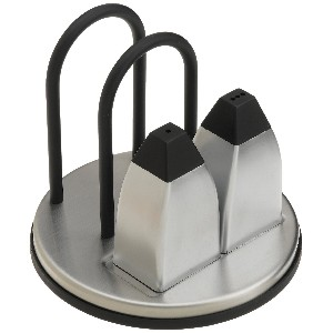 Stainless Steel Napkin Holder with Salt and Pepper Shakers