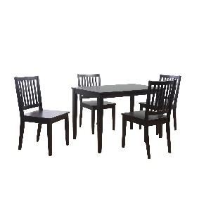 TMS 5-Piece Shaker Dining Set, Black
