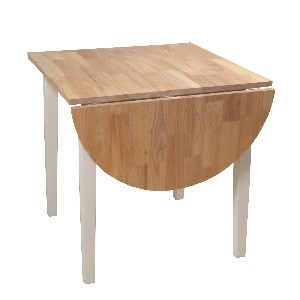 TMS Tiffany Dining Table, White/Natural