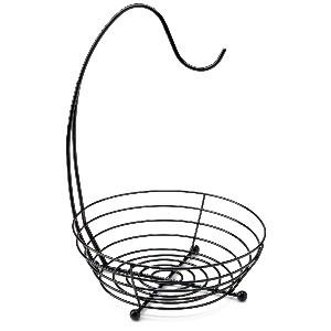 black basket banana holder
