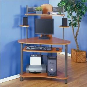 Teak Corner Desk and Computer Work Space