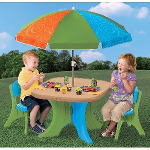 The Step2 Company Play and Shade Patio Set & Childrens Plastic Table and Chairs u2022 Stones Finds