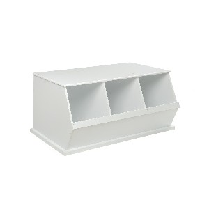 Three Bin Storage Cubby