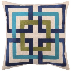 Trina Turk Down-Filled Shanghai Links Pillow, Blue