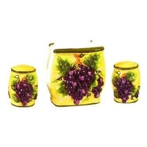 Tuscany Grapes Napkin and Shaker Set