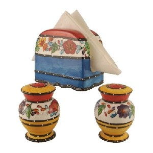 Tutti Frutti Decor Napkin Holder and Matching Shakers