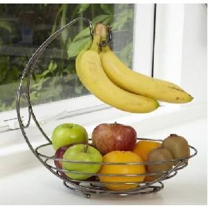 vanderbilt black chrome banana tree and fruit basket