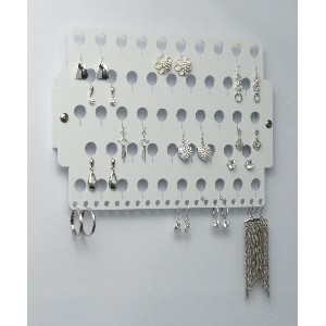 Wall Mounted Necklace and Earring Holder