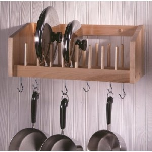 Wall Pot and Lid Rack