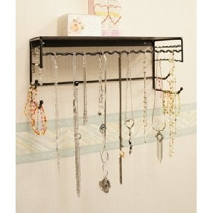 Wall-mounted Necklace and Accessory Holder