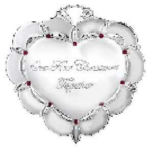 Waterford Silver and Crystal Gem Our First Christmas Together Ornament