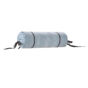 White and Black Trim Ease Bolster Pillow