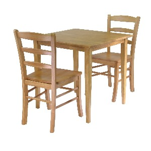 Winsome Groveland Wood Kitchen Table and Chairs Set for Two