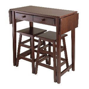 Double Drop Leaf Dining Table Set