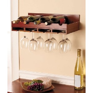 Wood Wall Mounted Wine Rack and Wine Glass Holder price  sc 1 st  Stoneu0027s Finds & Wall Mounted Wine Racks u2022 Stoneu0027s Finds