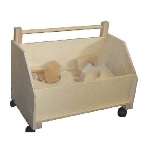 Wooden Toy Chest on Wheels