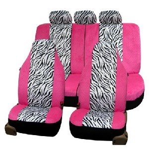 Zebra Print Pink Car Seat Covers