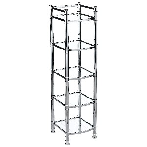 Zenith Studio Accents Linen Tower, Chrome
